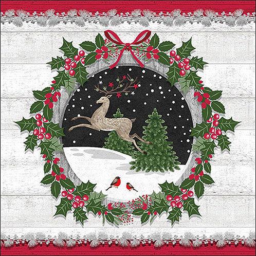 Winter Scene Napkin