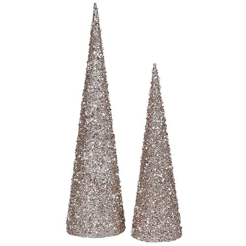 Set of Two Champagne Pyramid Trees