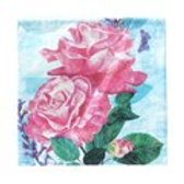 Napkin -Pink Roses & Butterfly