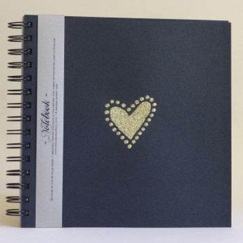 Gold Glitter Heart Notepad