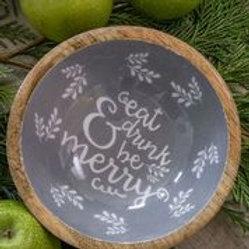 Wood Grey Bowl
