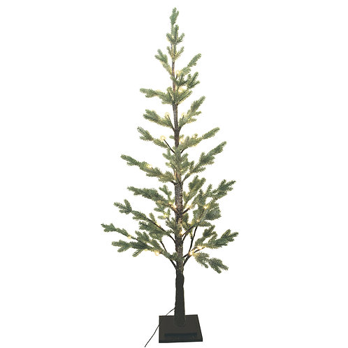 Tall Frosted Fir/Twig Tree with Lights
