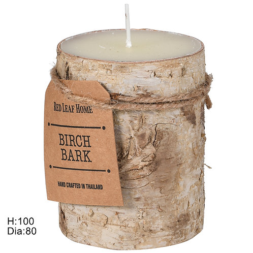 Small Birch Bark Candle