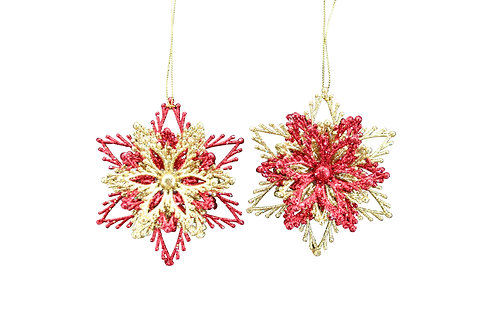 Acrylic layered Snowflake Decoration (1only)