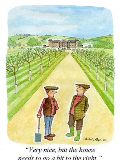 Oliver Preston Card - Very, nice but I think the house needs...