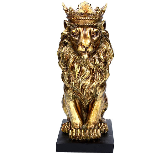 Gold Resin Lion