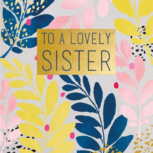 Card - To a Lovely sister