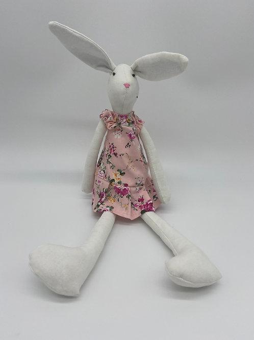 Soft Toy Bunny - Pink Dress