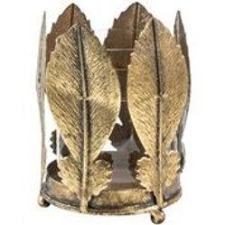 Votive Holder Golden Leaves