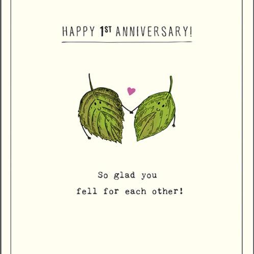 Card - Happy 1st Anniversary
