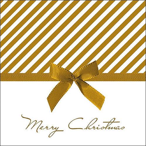 Christmas Bow Gold Napkin