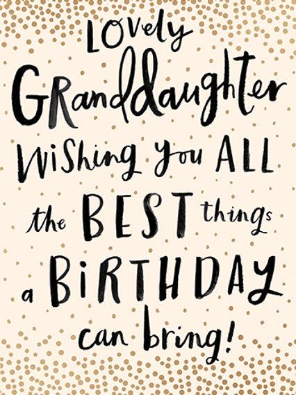 Card - Lovely Granddaughter Happy Birthday