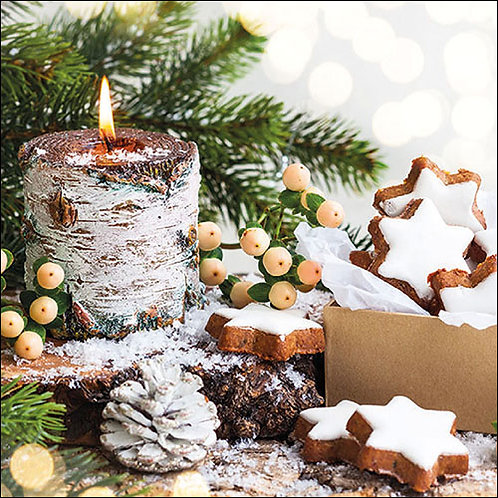 Frosted Candle Napkin