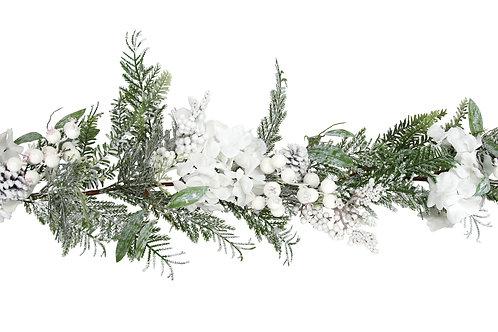 Snowy Fir & White Berry& Garland Hydrangea
