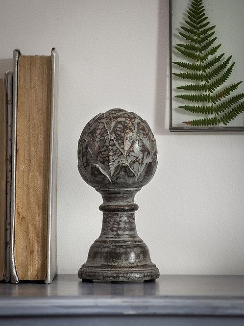 Grey Wood Object Artichoke