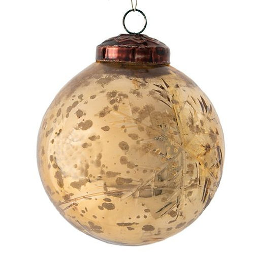 Gold snowflake Bauble decoration - large