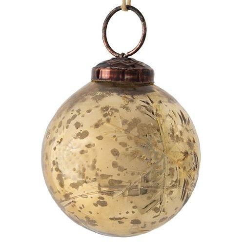 Gold Snowflake bauble decoration - Medium