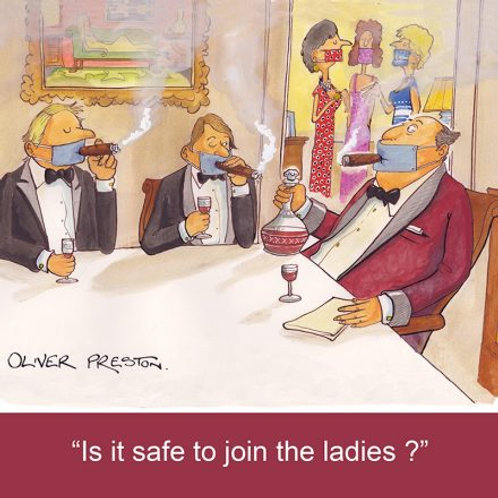 Oliver Preston Card - Is it safe to join the ladies?