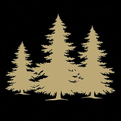 Tree Silhouette Black/Gold