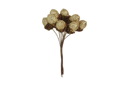 Gold Glitter Acorn Bunch