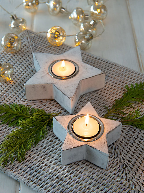 White Star Tea Light S/2