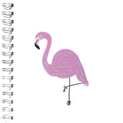Flamingo Glitter Notepad