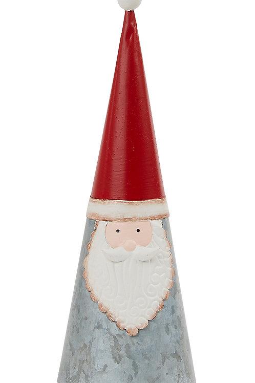 Galvanised Large Cone Santa