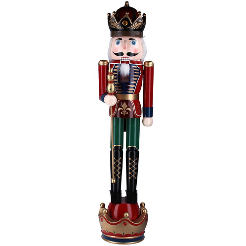 Giant Wooden Standing Nutcracker - 93cm