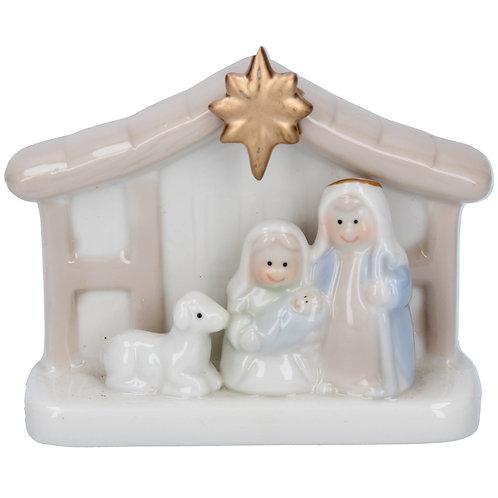 Mini Nativity Cream and Gold