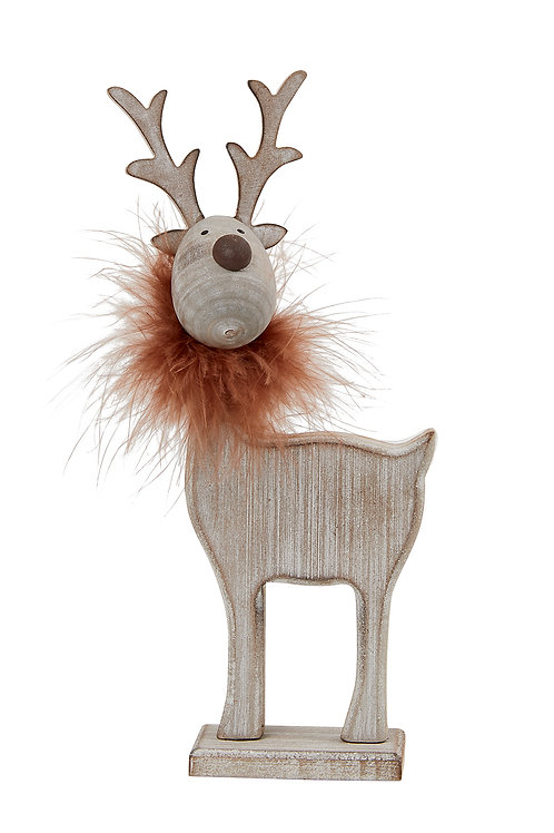 Wooden Reindeer decoration - Small