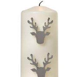 Set of 3 Reindeer Candle Studs