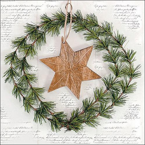 Wreath & Star Napkin