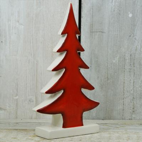 Red Ceramic Christmas Tree