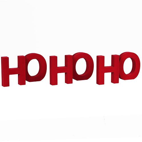 Red Flock HOHOHO Letters