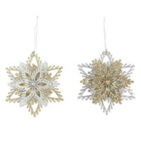 Acrylic Gold / Silver Decoration