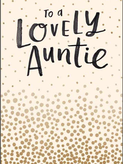 Card -To a Lovely Auntie