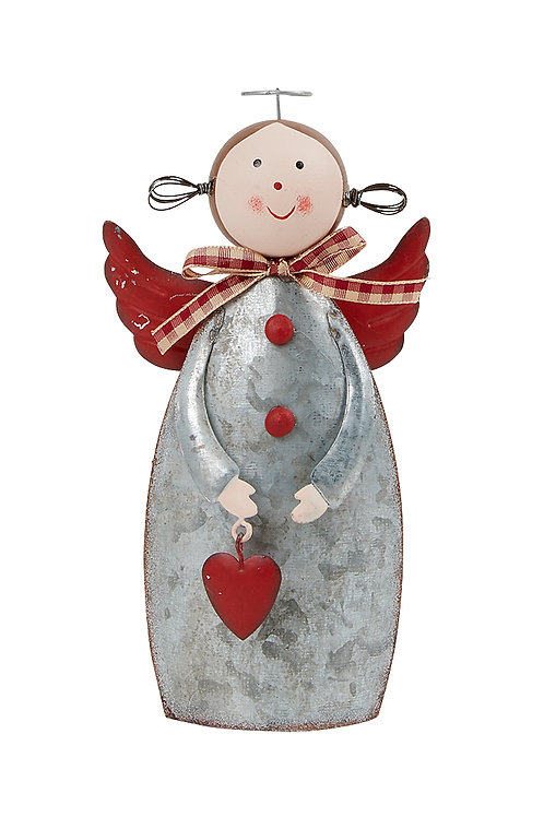 Angel holding heart