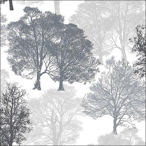 Grey & Silver tree Napkin