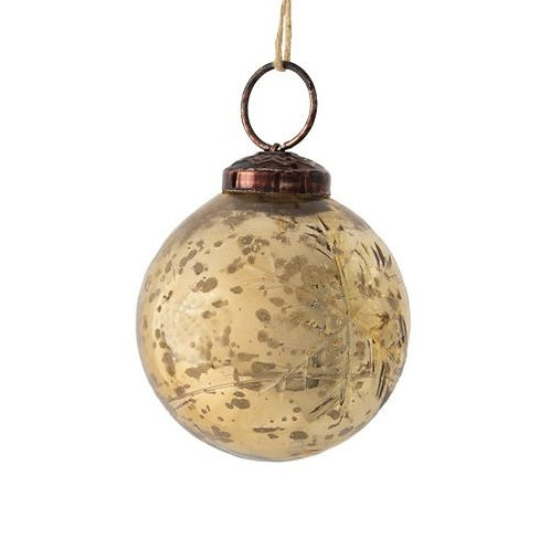 Gold Snowflake Bauble Decoration - Small