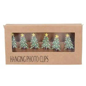 Hanging Green Photo Clips