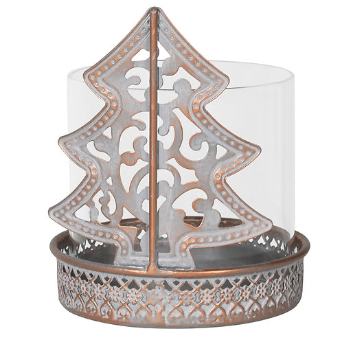 Pattern Christmas Tree Candle Holder