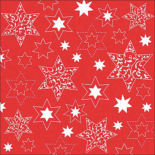 Red & White Star Napkin