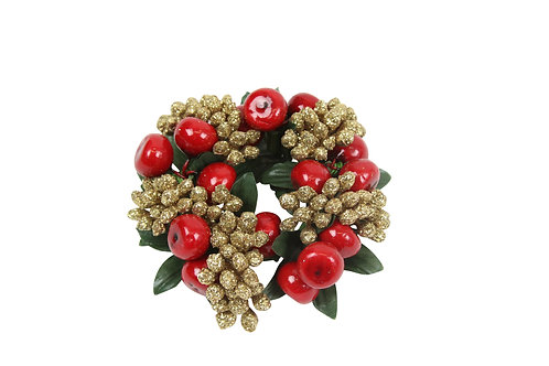Shiny Red Berry candle ring