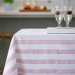 Raspberry Hand Block Tablecloth