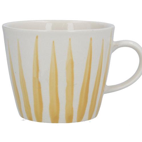 Ceramic Mug - Mustard Flame