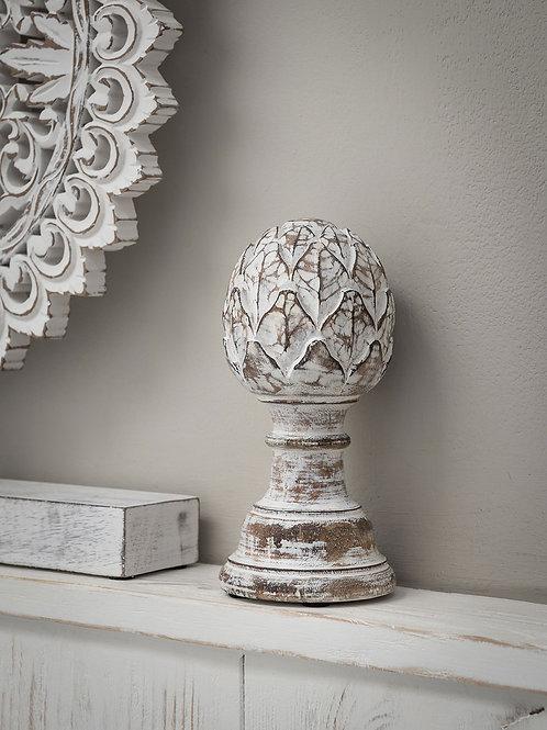 Ivory Wood Object Artichoke