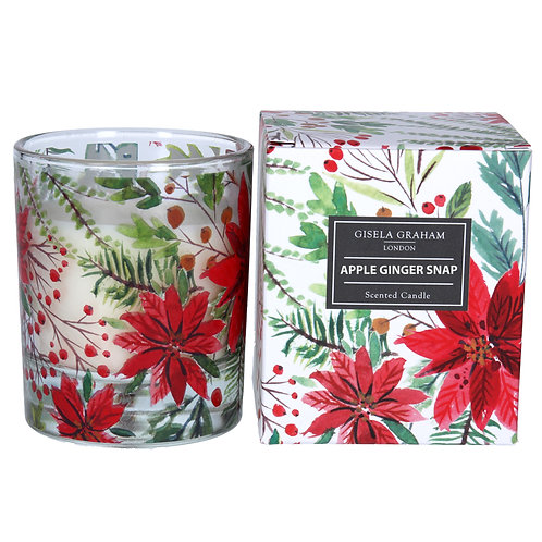 Poinsettia Boxed Candle Large