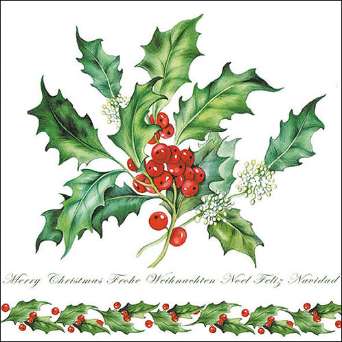 Holly Branch Napkin