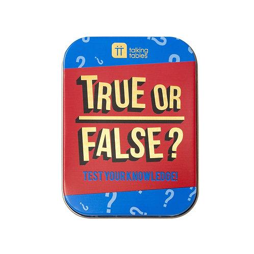 Fun In A Tin - True or False