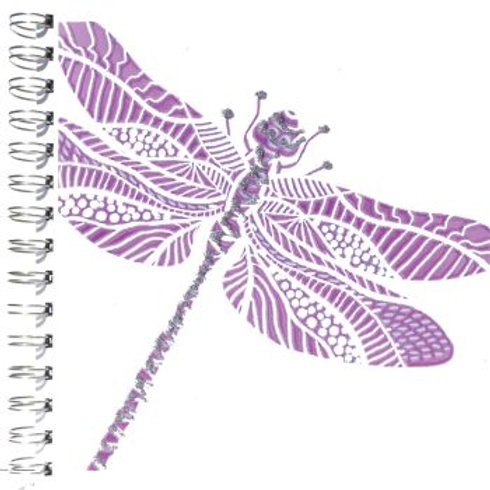 Dragonfly Glitter Notepad